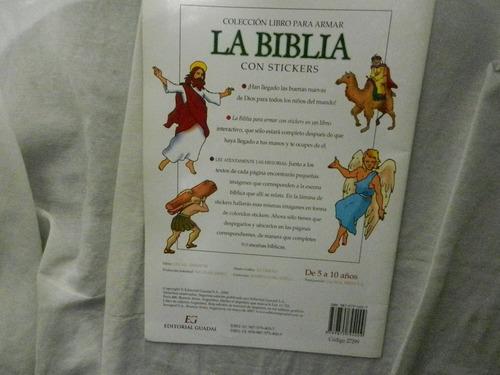 la biblia con stickers editorial guadal niños