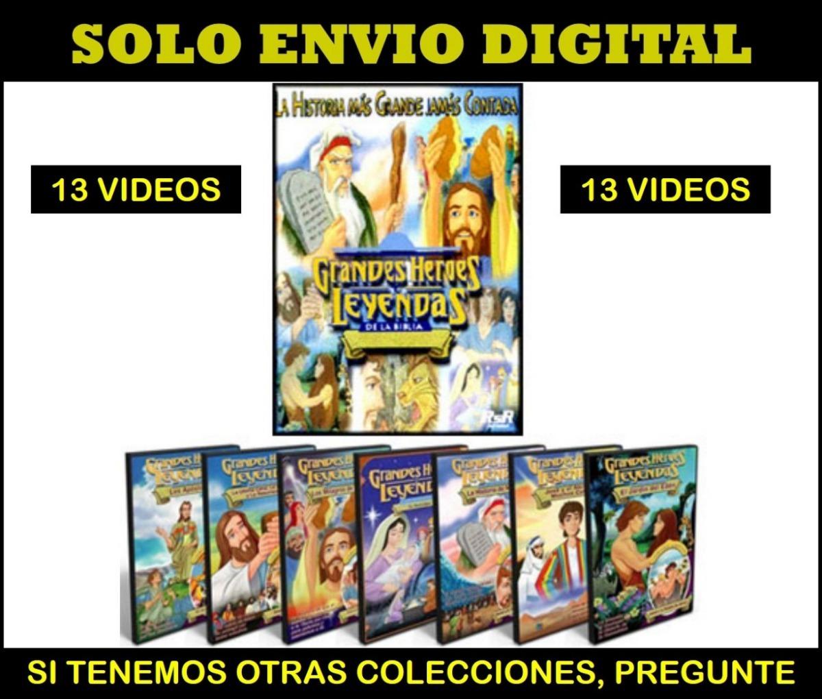 La Biblia - Grandes Heroes Coleccion 13 Videos Para Niños - $ 4.999 ...