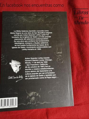 la biblia satanica anton szandor lavey libro fisico