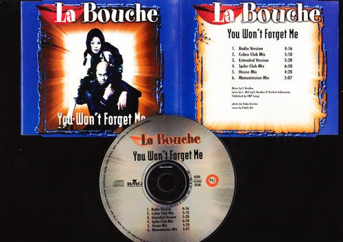 la bouche you won t forget me cd single c/6 versiones bvf