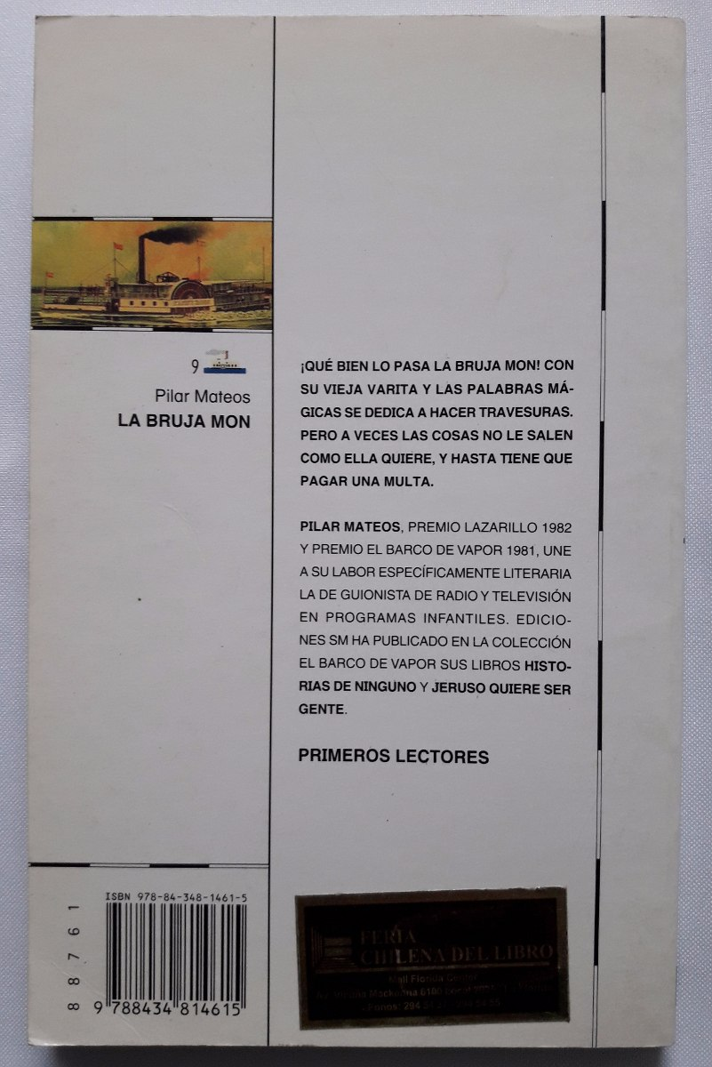 la bruja mon - s m barco vapor - serieblanca- libro original. Cargando zoom.