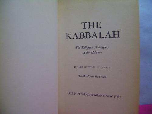 la cabala   the kabbalah  / adolphe franck  (obra en ingles)