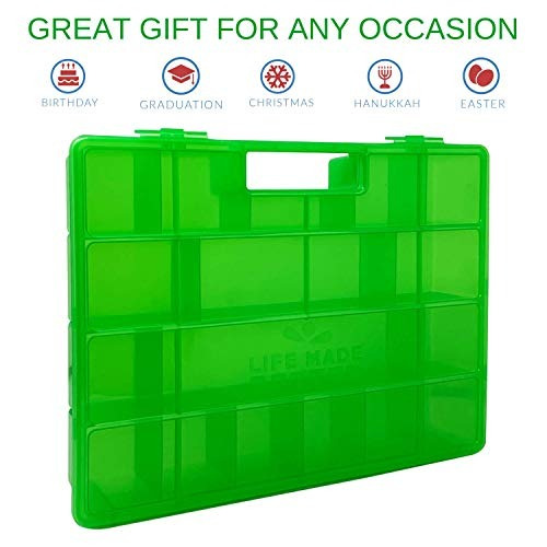 la caja organizadora de juguetes portatil mejorada de la vid