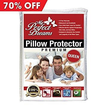 la calidad superior protector de almohada - despertar sin