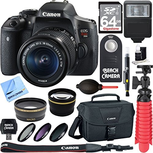 la cámara canon eos rebel t6i réflex digital con objetivo e