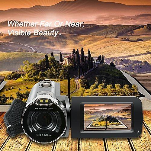 la cámara de video, hd 720p de 16mp 16x zoom digital video c