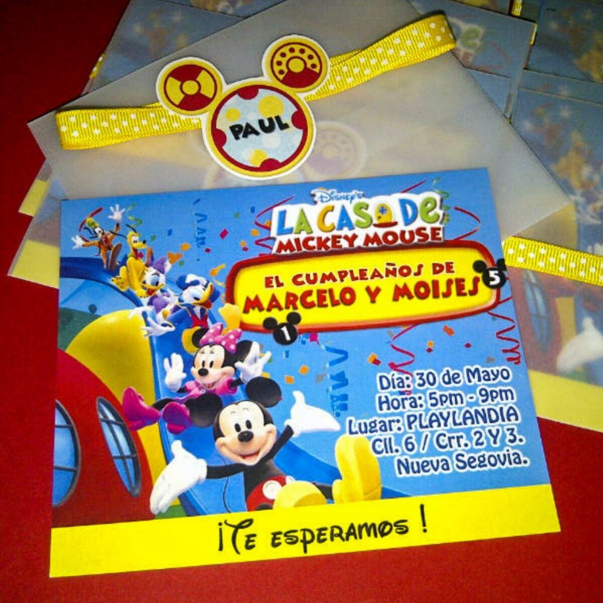 La Casa De Mickey Mouse Invitación Personalizada