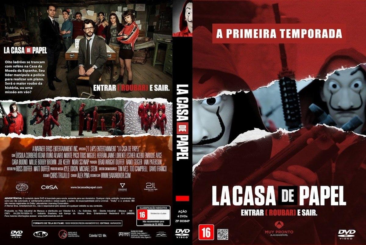 La casa de papel 1 temporada 4 dvds r 30 00 em mercado livre - La casa de papel temporada 2 capitulo 1 ...