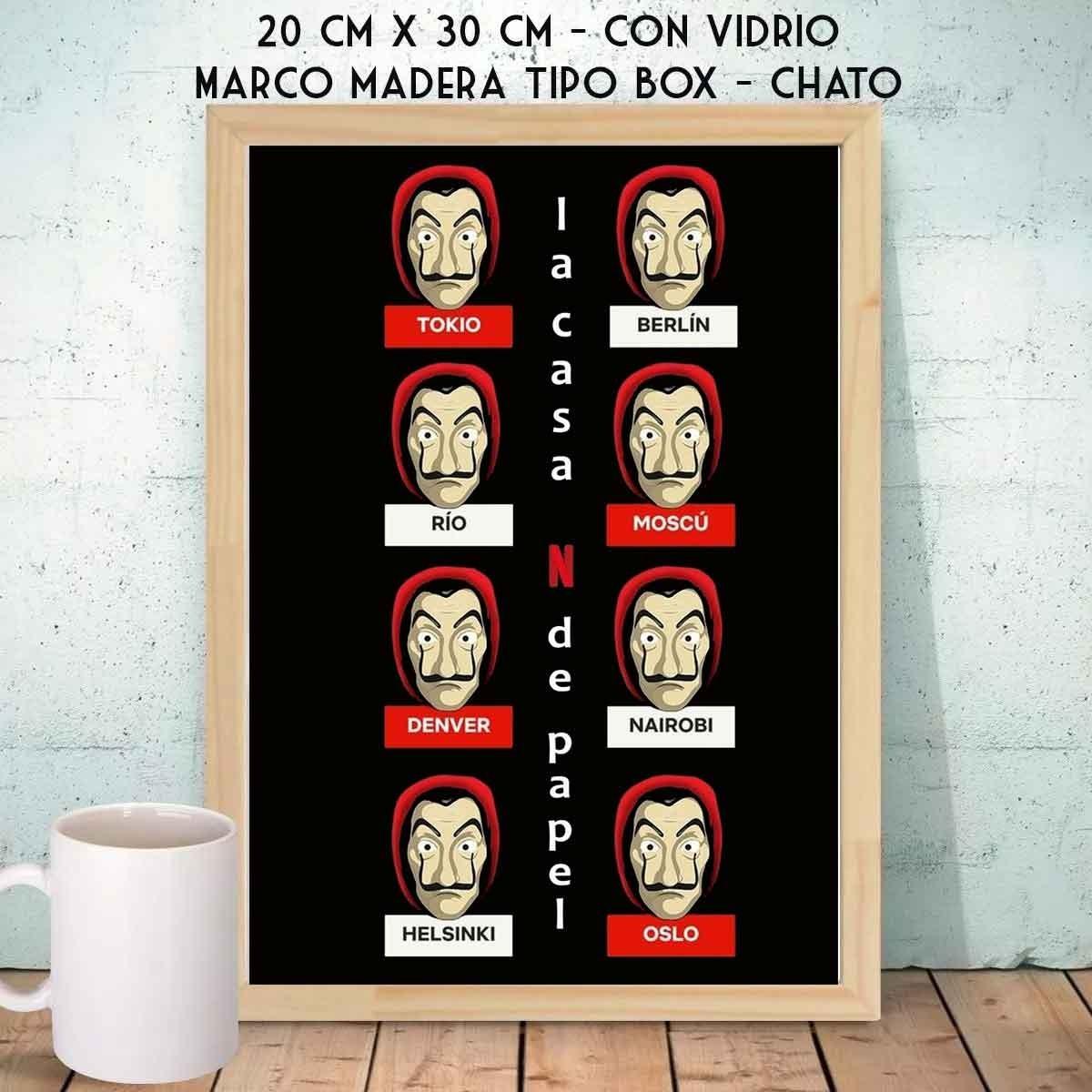 La Casa De Papel Varios Cuadro Nordico Box A4 Unicos! - $ 300,00 en ...