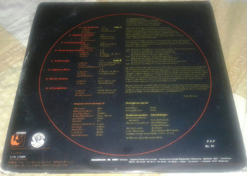 la charanga 76/ 81 gold/ salsa/ lp disco 1981 usk venezuela