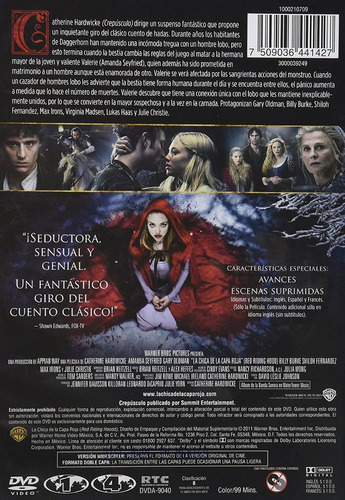 la chica de la capa roja amanda seyfried pelicula dvd
