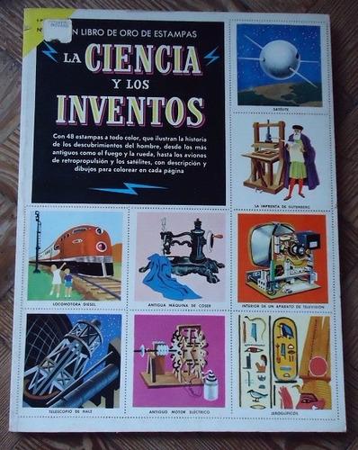 la ciencia y los inventos - libro de oro de estampas - 1971