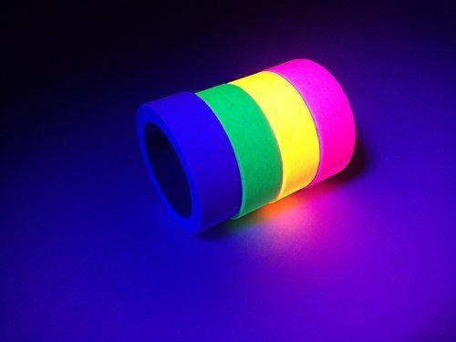 la cinta fluorescente 4pack neon glow tape uv black light in