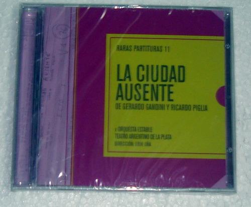 la ciudad ausente raras partituras 11 gandini cd sellado