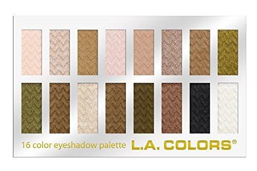 la colors 16 color eyeshadow palette dulce 102 onza