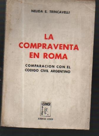 la compraventa en roma - nelidad e. tricavelli - libros