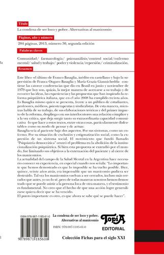 la condena de ser loco y pobre (franco basaglia)