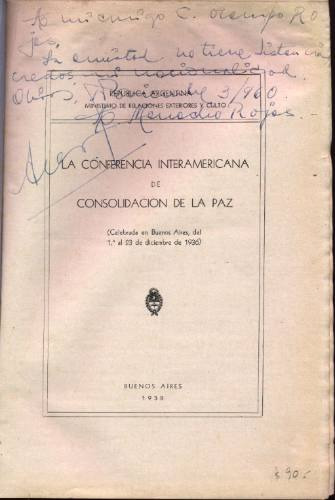 la conferencia interamericana de consolidación de la paz