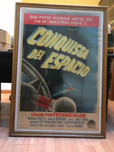 la conquista del espacio. poster cine original montado 1955