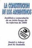 la constitución de los argentinos sabsay onaindia errepar
