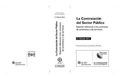 la contratación del sector público: especial referencia a lo