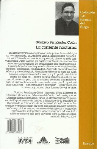 la corriente nocturna - gustavo fernández (182 pags)