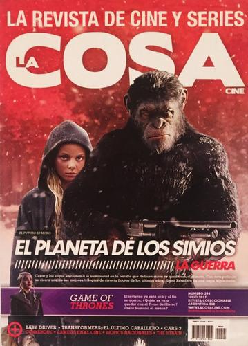 la cosa - planeta de los simios - juego de tronos