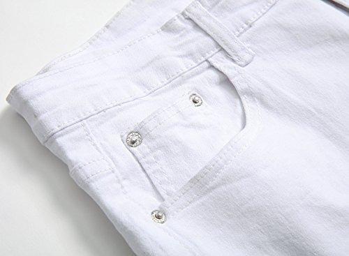 la cremallera blanca de los hombres rasgada apenó los pantal