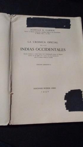 la cronica oficial de las indias occidentales
