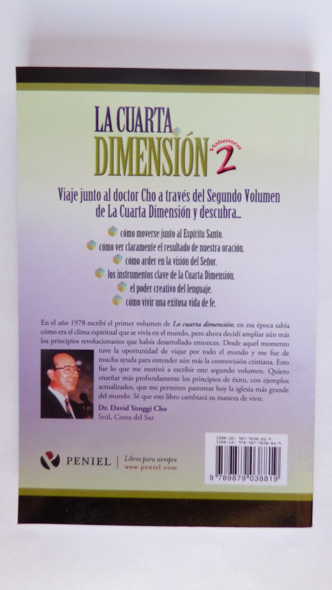 La Cuarta Dimension Vol 2 David Yonggi Cho - $ 25.000 en Mercado Libre