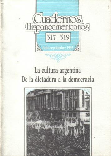 la cultura argentina de la dictadura a la democracia