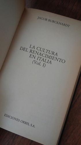 la cultura del renacimiento en italia. jacob burckhardt