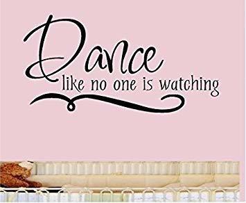 la danza como nadie está mirando la pared del vinilo etique