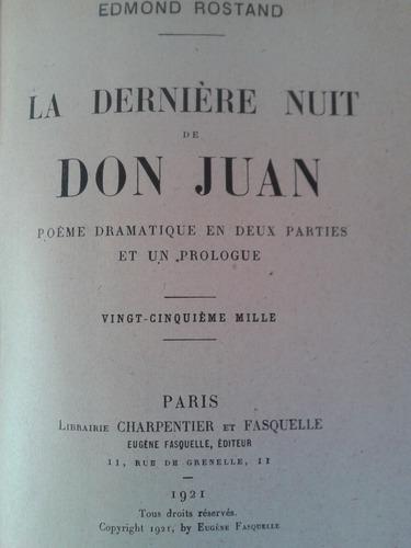 La Derniere Nuit De Don Juan Edmond Rostand 1921 250000