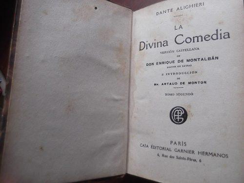la divina comedia dante alighieri 2 tomos tapa dura antiguo