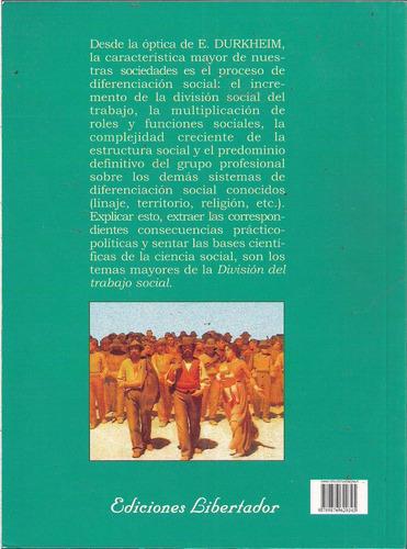 la división del tabajo social - emile durkheim - nuevo