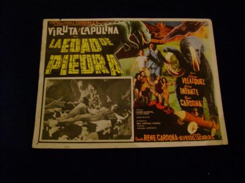 la edad de piedra viruta capulina lobby card cartel poster d