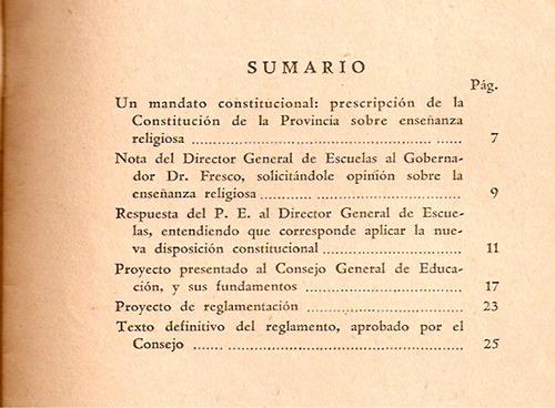 la enseñanza religiosa en las escuelas de la prov. bs. as.