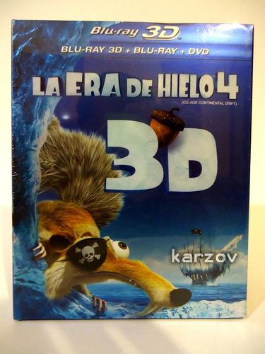 la era de hielo ice age 4 cuatro blu-ray 3d + blu-ray + dvd