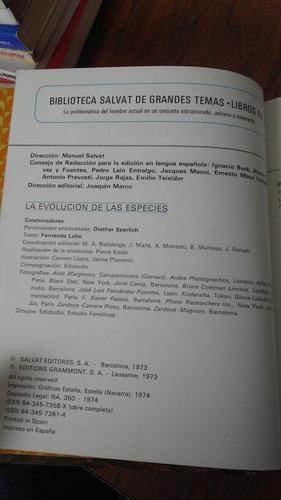 la evolución de las especies. salvat editores,s.a.