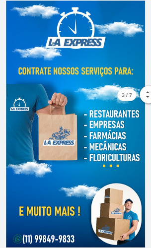 l.a express / transporte de cargas , documentos e remédios .