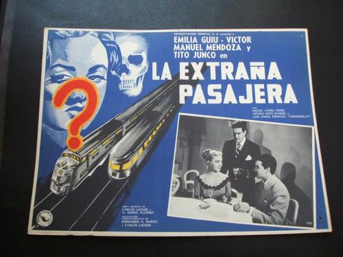 la extraña pasajera emilia guiu cartel poster 19.9.17