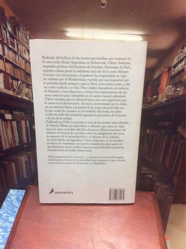 la extraña - sándor marai - novela - salamandra.