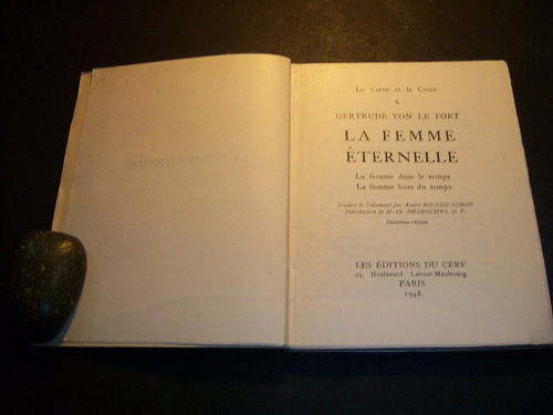 la femme éternelle. gertrude von le fort . en francés