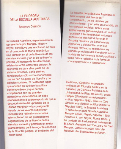 la filosofía de la escuela austriaca por raimondo cubedou