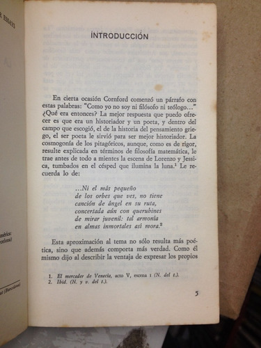 la filosofía no escrita. f.m cornford . ariel