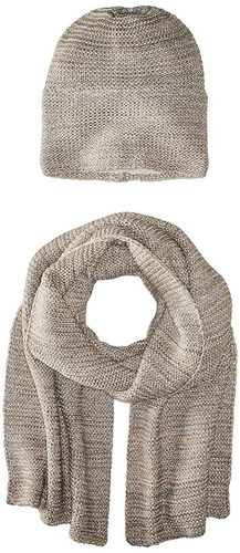 la fiorentina tejer bufanda y gorro para mujer 2piezas