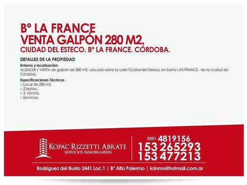 la france (ciudad del esteco 3400) - venta galpón 243 m2.