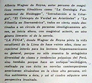 la fuga  alberto wagner de reyna novela editorial zig-zag