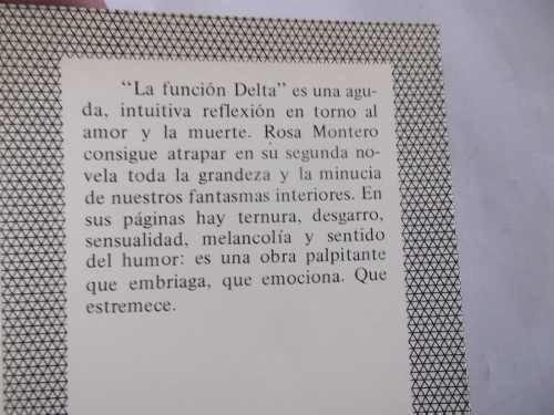 la funcion delta rosa montero novela